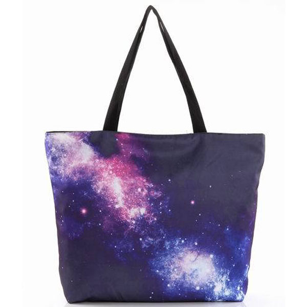 2017 Fashion Starry Sky Canvas Bags Reusable Woman Shopping Tote Bags