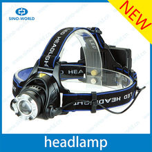 CR EE T6 LED high power headlamps with a bicycle stand led miners light