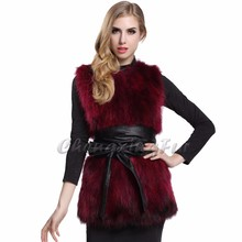 CX-G-B-26A Fancy Vest For Women Real Raccoon Fur Vest