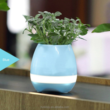 Original Top quality Playing smart music flowerpot bluetooth speaker with led light