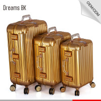 Guangzhou Factory Directly Gold Luggage Case Aluminium Suitcase
