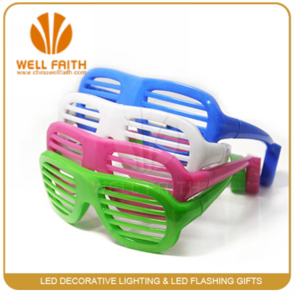 Custom Light Up Flashing LED Sunglasses,Led Glowing In the Dark Shutter Sunglasses Shade Glasses For Disco Club