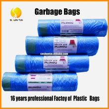 HDPE woven colorful plastic garbage bag /trash bags