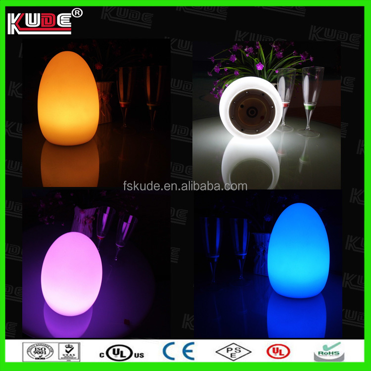 Wedding souvenirs gift lighted plastic table lamp / dico led lights for bar/ hotel