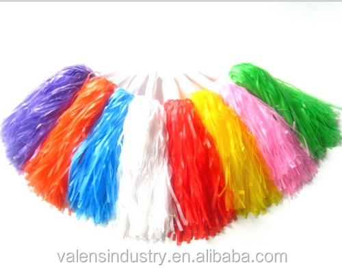 Cheering pompom/ Sport plastic pompoms/ Hot sale streamer cheering pompoms for Russia world cup