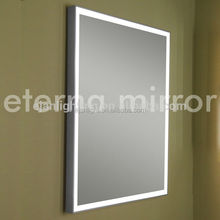 Aluminum frame IP44 wall mounted bathroom illuminated mirror with led lighting