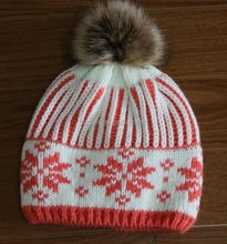 pompom winter adult beanie hat