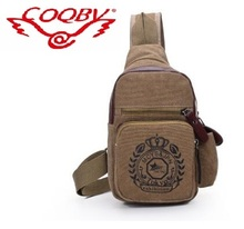 hot sale man's small sling cheap canvas bag