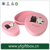 Custom unique design oval shape paper gift box for chocolate, candy