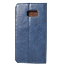 Crazy Horse Texture Magnetic Adsorption Horizontal Flip Leather Case with Card Slot & Holder(Blue) for Samsung Galaxy Note 7 /