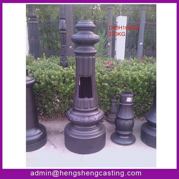 Hengsheng Cast Aluminum Street Lamp Pole Base Garden Lamp