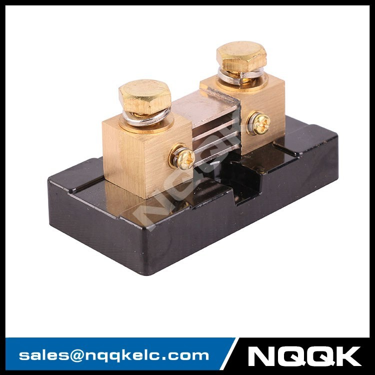 FL USA type 500A 50mV DC brass Electric current Shunt Resistors for Amp Panel Meter Currect Monitor