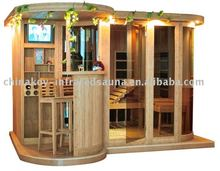 2017 New design fashionable sauna infrared and steam combined sauna room