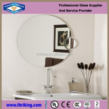 Standard size silver cosmetic mirror