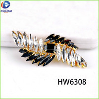 HW6308 renqing shoe collection diamante office lady shoe trim for leather sandals wholesale