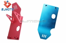ZJMOTO Motorcycle Aluminum Showy Blue&Red Skid plate Pit For Sale Fit for Honda XR50 CRF50 XR CRF70 110 125 70cc 110cc 125cc