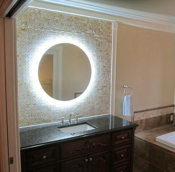 Shanghai ronde muur spiegel met led licht decoratieve spiegel ronde vorm 16 jaar leveren voor - Decoratieve spiegel plakken ...