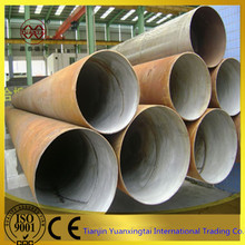 large diameter Q235B SSAW / SAWH galvanized spiral welded carbon steel pipe