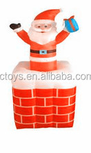 Lovely mini inflatable rooftop Christmas father for indoor decoration