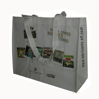 biodegradable promotion tote grocery reusable carry away bopp laminated black cardboard non woven shopping bag
