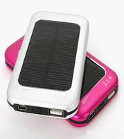 Universal 5000mah emergency solar panel power bank charger for smartphone tablet pc Laptop