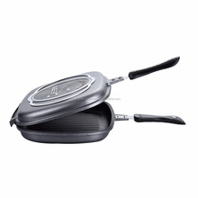 Dessini Aluminum Two-Sided Double Grill Non-stick Multi Fry Pan