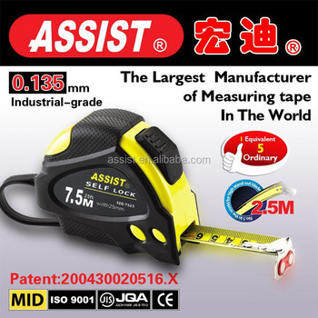 Customized steel tape measure with Rubber jacket tape measure