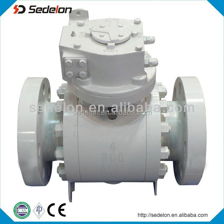 Gear operate flange type Ball Valve