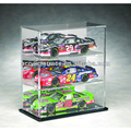 Three Car 1-24th Scale Die Cast Acrylic Display Case with Mirrored Back - db140202324