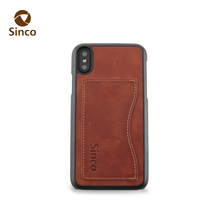 Latest Design Card Holder Handmade Custom Leather Mobile Phone Case for Iphone