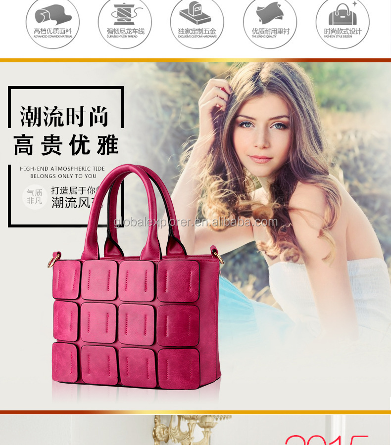 Fashion Girls Concealed Carry Wholesale Guangzhou Pu Bag Women Handbag