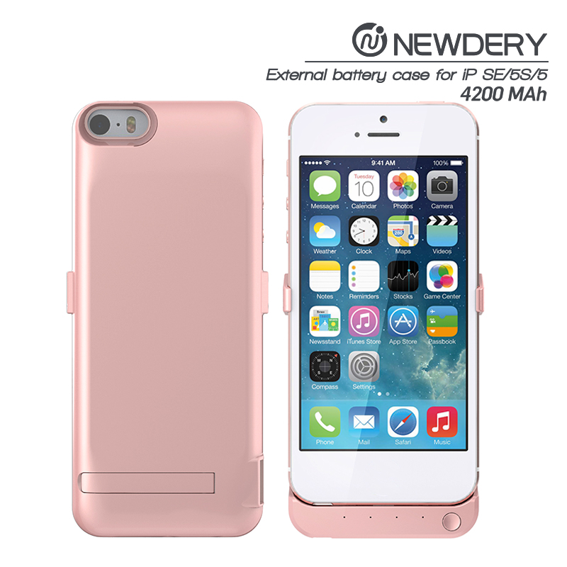 factory Promotional high-energy external portable power bank case for iphone SE 5 5s