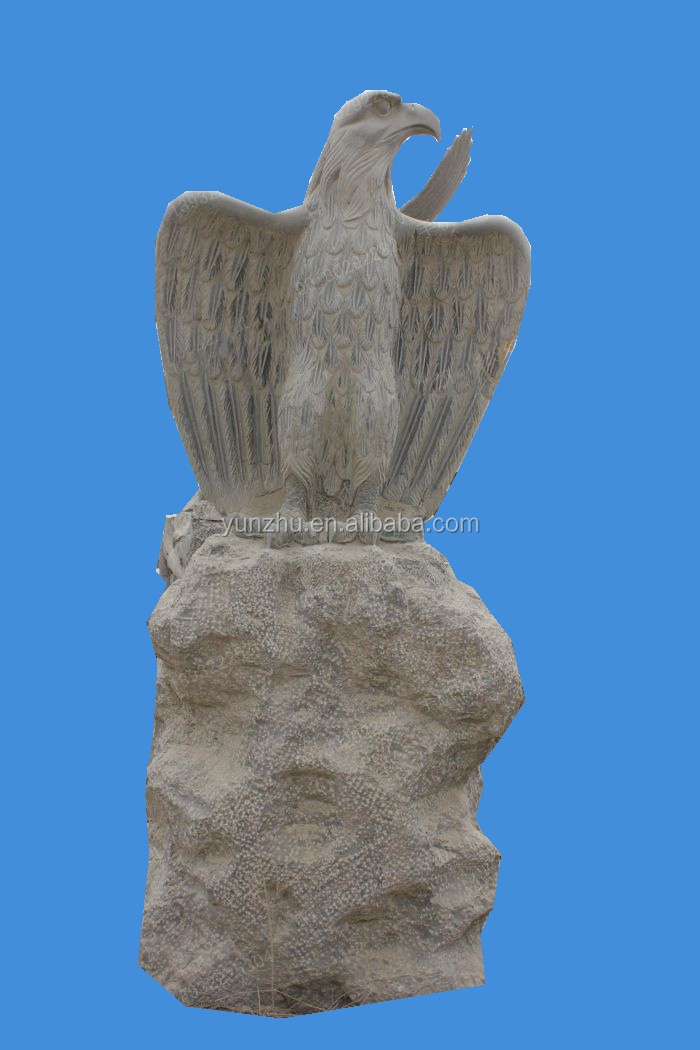 Garden hand carved antique stone carving,eagle stone sculpture