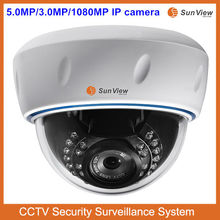 Alibaba Top 10 IP camera SunView plastic IR dome surveillance 5.0 Megapixel shenzhen IP camera