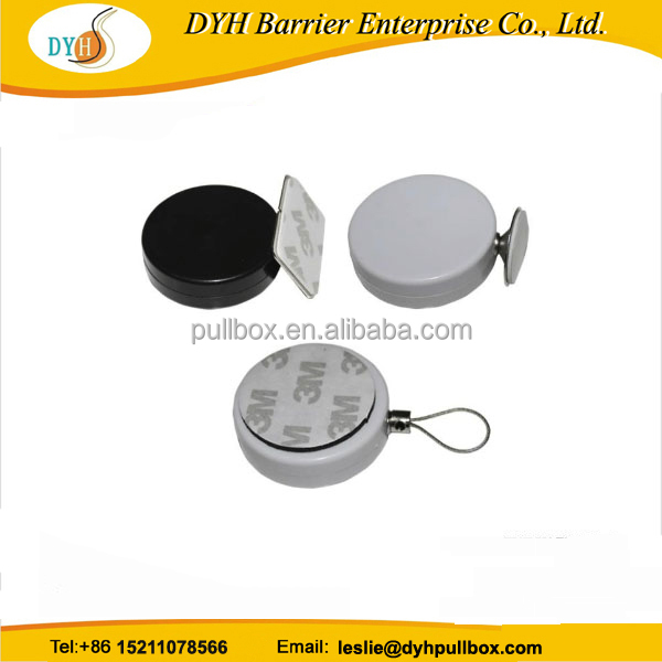 Security anti-theft pull box for exhibition display, ABS plastic and steel cord