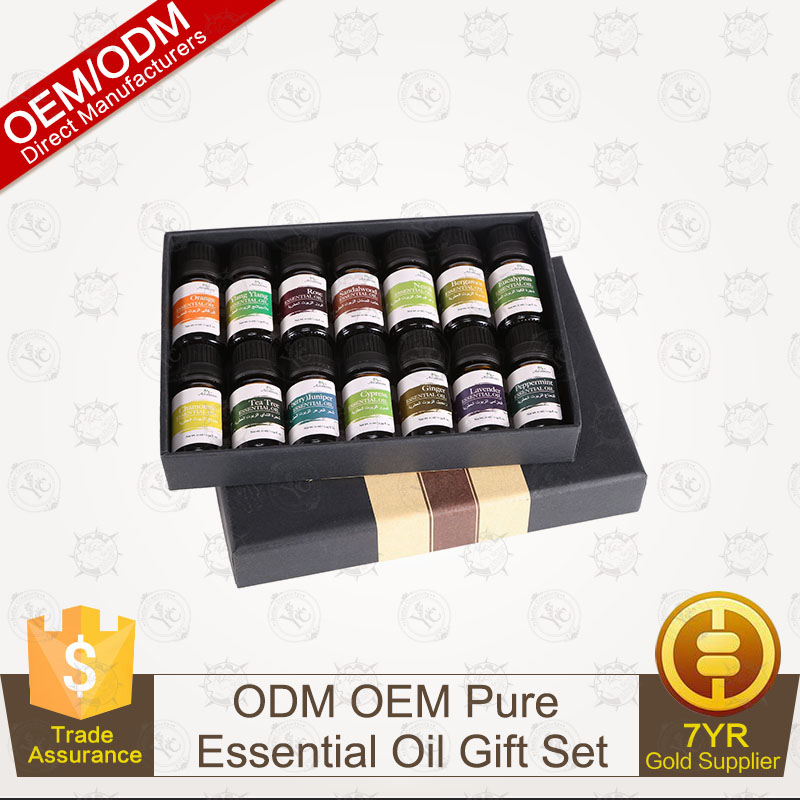 OEM/ODM Natural Organic Pure Essential Oil Gift Set 10ml/14pcs Manufacturer Supply