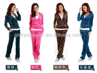 Brand name tracksuit jogging suit velour tracksuit hoodies