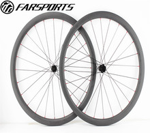 700C road bike wheels 30mm, full carbon fiber toray 30mm clincher rims U shape, disc carbon wheels with thru axle