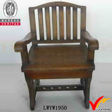 arm rest antique fancy style wood living room chairs