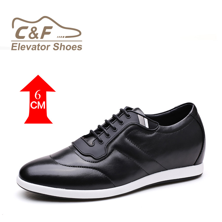 CF Men' s Casual Shoes That Make You Look Taller Height Increase 6 cm/2.36 inches