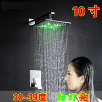 "10"" led top rain shower heads"