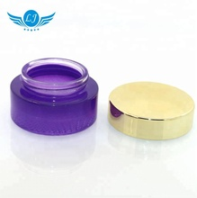 empty blue purple 30g 50g cosmetic container 100g skin care <strong>glass</strong> bottle cream <strong>jar</strong> with lid