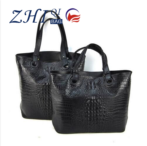 Women Genuine Leather Tote Shopper Handbag Shopping Bag Crocodile Alligator Purse Shoulder Cross Body Satchel Fashion Hobo bags