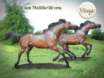 Bronze trotting Horse on base Sculpture