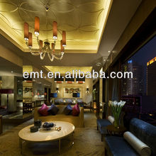 Wonderful and elegant living room and lobby sofa set design,Hotel sofa set (EMT-HTB16-(1)