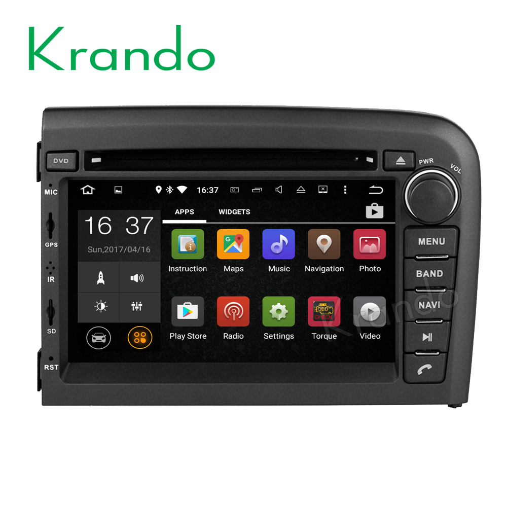 Krando Android 7.1 car multimedia system for volvo s80 1998-2006 gps navigation dvd player WIFI 3G BT Playstore KD-VL780