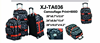 600D trolley and wheeled travel bag and suitcase