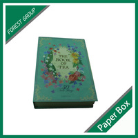 FANCY PAPER BOX FOR PACKING GIFT WITH INSERTS BOOK SHAPE FOLDING TEA BAGS PAPER PACKING BOX