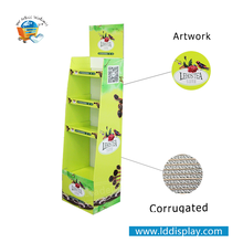 Elegant China Supplier Customized Store Retail Cleaning Supplies Display Rack Store Paper Cardboard Floor Display