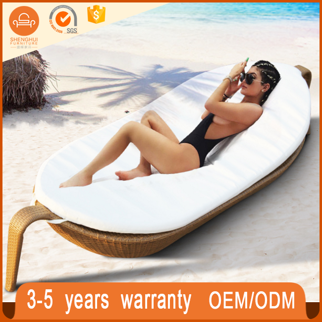 Hotel Swimming Pool Side Beach Bed Used Outdoor Lounge Furniture Boad Shape Lounge Chair